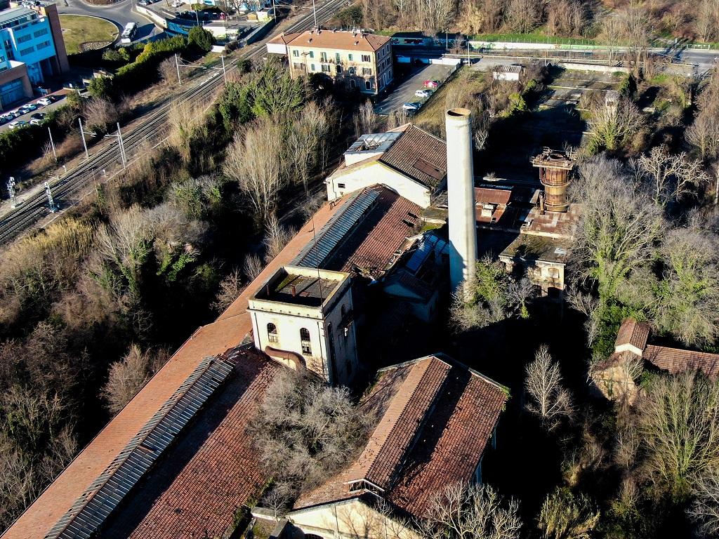 L'ex zuccherificio Eridania a Forlì: lo stabilitmento visto dall'alto.
