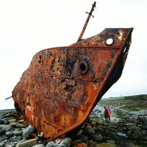 Il relitto della Plassey nelle Isole Aran, in Irlanda